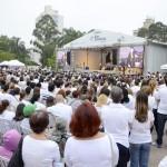 Grande presença de público